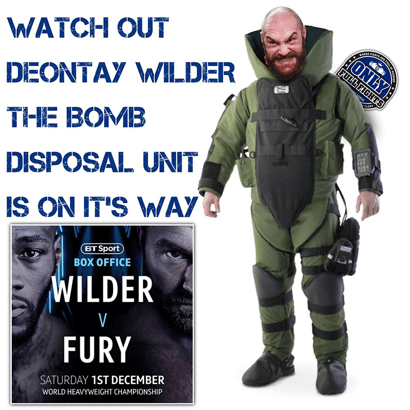 Tyson Fury vs Deontay Wilder meme