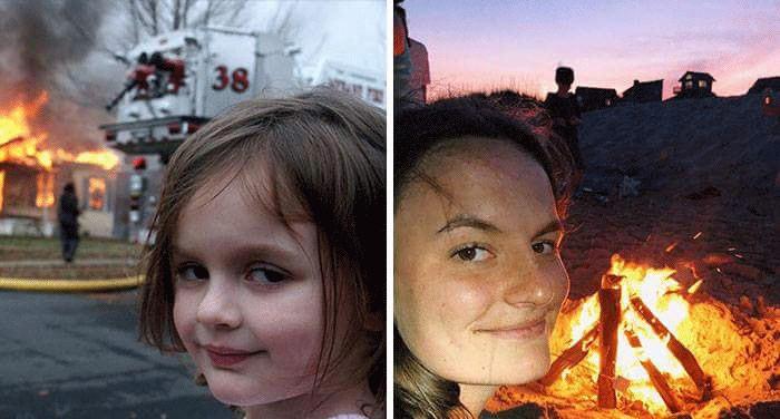 Disaster Girl Zoe Roth Meme House On Fire
