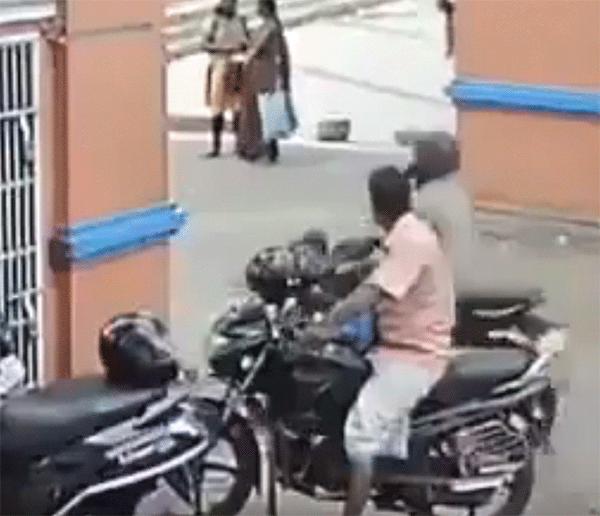 Motorcyclist Crashes Into Building