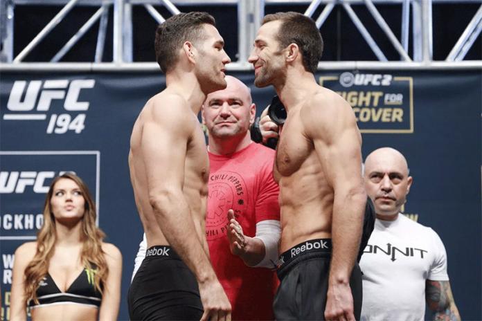 Rockhold vs Weidman UFC 230 Cancelled