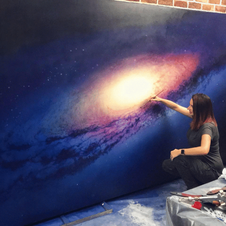 Cathrin Machin Paintings of Space