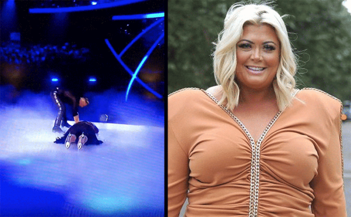 Gemma Collins Dancing on Ice Fall