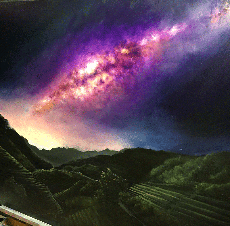 Photorealistic Milky Way Painting