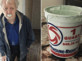 Grandpa Eats Paint Thinking it is Yoghurt