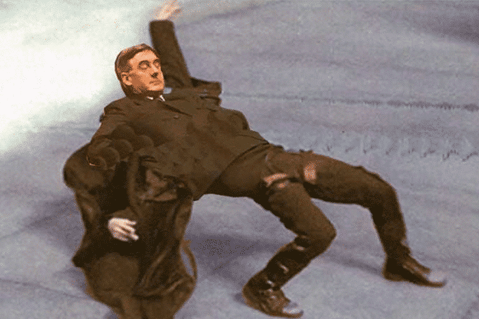 jacob rees mogg in the matrix meme