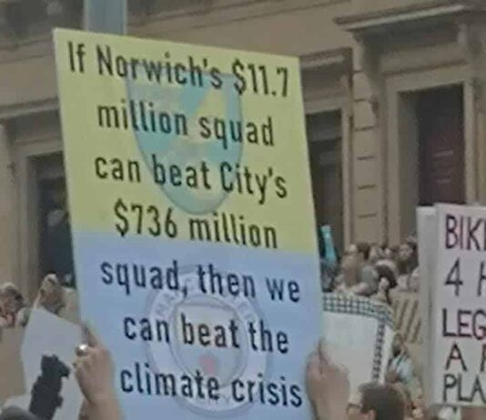 Norwich City Climate Change Protest Melbourne
